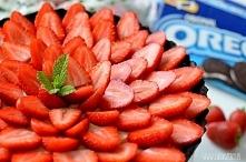 Tarta Oreo z truskawkami - ...
