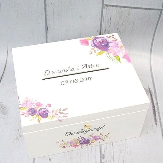 W Mega Białe pudełko ślubne na koperty i kartki od gości! Do kompletu WW66