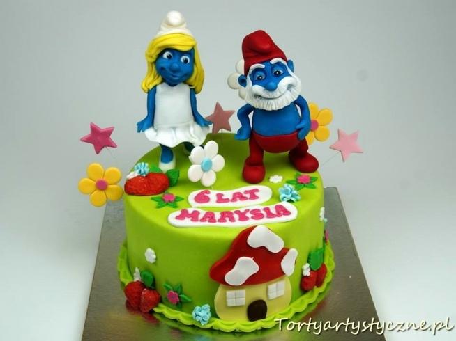 Smerfy tort dla dzieci