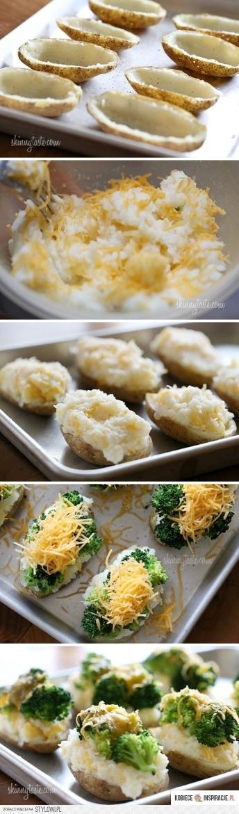 ziemniaczki nadziewane brokułami i serem ( brak przepisu )