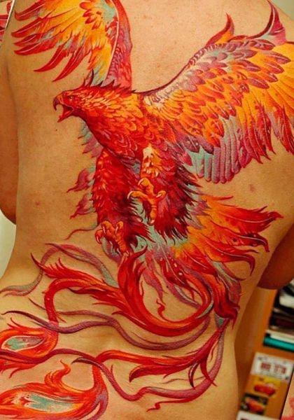 Phoenix Back Tattoo For Woman Na Tatuaże Zszywkapl