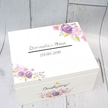 Białe pudełko ślubne na koperty i kartki od gości! Do kompletu można dokupić ...