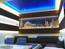 Na suficie w salonie zastosowano zestaw Galaktyka firmy E-Technologia.  Tel: 668 487 285