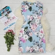 Piękna sukienka w kwiaty ty...