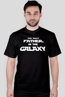 Koszulka Best Father in the galaxy - prezent dla taty
