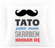 Poduszka dla taty z dowolnym imieniem do zamówienia na nadruko.pl