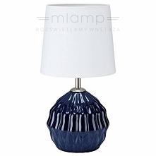 Abażurowa LAMPA stołowa LORA 106883 Markslojd stojąca LAMPKA biurkowa biała n...