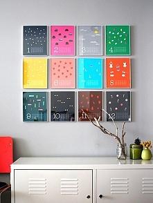 Kalendarz obrazkowy w formie obrazów. Możesz ozdobić go samemu lub wykonać go...