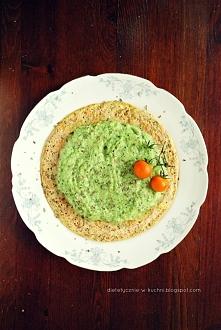 Ultra dietetyczny omlet z musem warzywnym