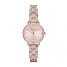 Emporio Armani AR11010 śliczny kobiecy zegarek na skórzanym pasku w kolorze z...