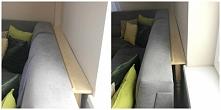 Niewidzialna wąska półka do postawienia za kanapą - świetne miejsce na ścienn...