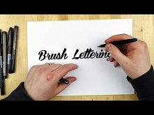 Hand Lettering Tutorial | How To Use A Brush Pen
