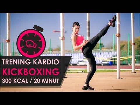 Trening Kardio KickBoxing - 300 kcal w 20 minut!