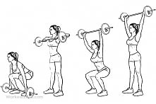 Ćwiczenie angażujące całe ciało. Polecam każde ćwiczenia wielostawowe na budo...