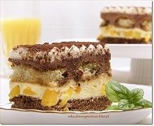 Ciasto tiramisu z brzoskwin...