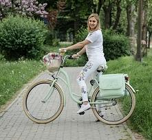 Torba na rower miętowa---> farbotka.pl