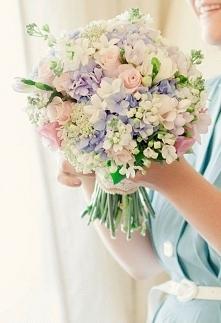 Bukiet Panny Młodej w pastelowych kolorach <3