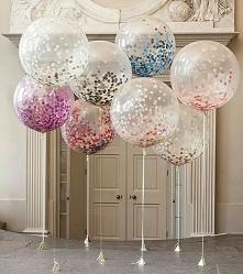 Baloniki z konfetti prezent...