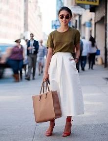 Biała spódnica od dalida78 z 21 czerwca - najlepsze stylizacje i ciuszki