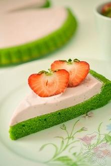 Zielone ciasto z kremem tru...
