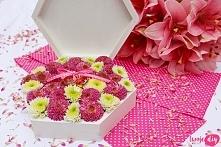 Kwiatowe pudełko na obrączk...