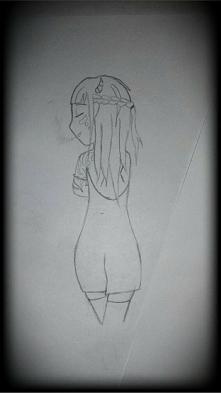 Podczas letnich porządków znalazłam jeden z moich starych rysunków. Dokończyć...