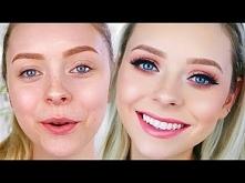 GRWM Peachy Makeup Look