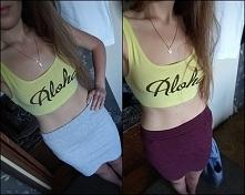 Kobitki! Która spódnica lepiej pasuje waszym zdaniem? :>
