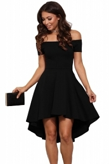 Sukienka asymetryczna odkry...