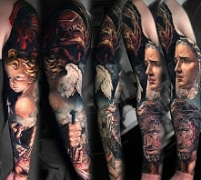 mary jesus angel tattoo