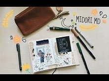 Journal With me | How I journal in my Diary Midori MD A6