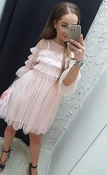 Sukienka z tiulem cudowna d...