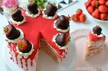 Tort truskawkowy- przepis ze zdjęciami krok po krku po kliknięciu na zdjęcie :)