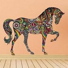 Naklejka na ścianę Folklor koń dekoracja