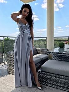 Olśniewająca sukienka z kol...