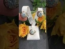 Komplet z niebieskim topazem 469 ze srebra i złota. Jak wam się podoba?