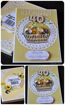 Kartka w pudełku z okazji 40 urodzin