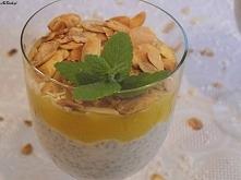 Kokosowy pudding z nasionami chia i mango