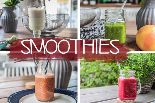 Cztery pyszne, zdrowe i baaardzo kolrowe przepisy na smoothie. Słoiki w garść i na zdrowie! :)