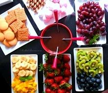 Fondue Czekoladowe z Owocami przepis