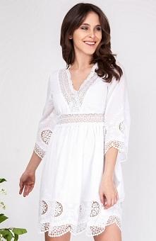 Milu by Milena Płatek MP357 sukienka Stylowa sukienka,  luźny krój, odsłonięt...