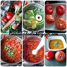 Letnia fit, wegańska zupa krem ze świeżych pomidorów. Niesamowity zapach i cu...