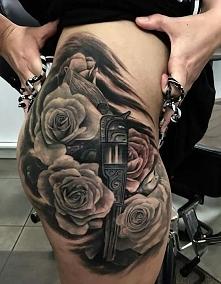 róże i pistolet