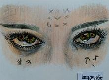 """oglądałyście """"Mumię""""? zainspirowały mnie jej oczy :)"""
