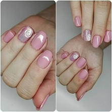 Moje ulubione kolorki <3 efekt na serdecznym palcu to róża + effect  glitt...