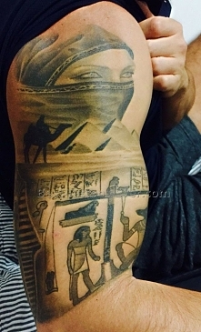 Egyptian tattoo sleeve