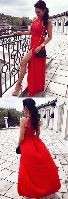 Zjawiskowa czerwona suknia ...
