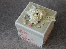 Exploding Box. Pudełko z życzeniami na ślub. Wykonanie: Babskie Uroczysko