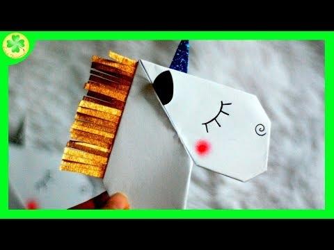 Zakładka do książki - Jednorożec / Unicorn bookmark (filmik)