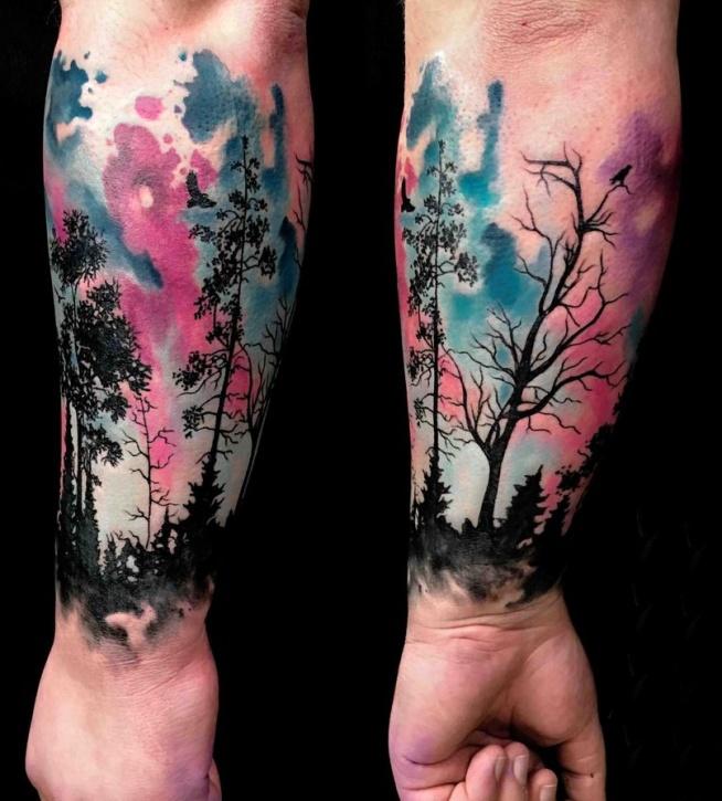 Drzewa Tatuaże Na Ręce Na Ciekawe Tatuaże Zszywkapl